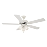 "Millbridge 52"" Ceiling Fan, White #153965"