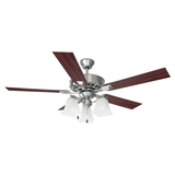 "Torino 52"" Ceiling Fan, Satin Nickel #154138"