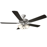 "Millbridge Ceiling Fan Energy-Efficient 52"", Satin Nickel #154229"