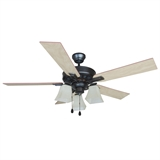 "Torino 52"" Ceiling Fan, Brushed Bronze #154245"