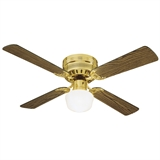 "Millbridge 42"" Hugger Fan, Polished Brass #156588"