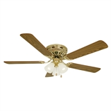 "Millbridge 52"" Hugger Fan, Polished Brass #156604"