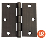 "10-Pack Hinge 3.5"", Oil Rubbed Bronze # 181503"