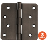 "3-Pack Hinge 4"", Oil Rubbed Bronze # 181552"