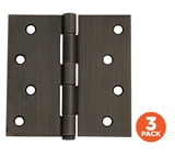 "3-Pack Hinge 4"", SQ Oil Rubbed Bronze # 181677"