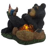 Bear Sleeping By Campfire
