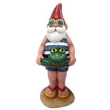 "10"" Gnome With Frog Float #309260"