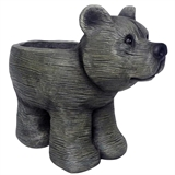 "10.5"" Weathered Bear Planter, #310235"