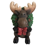 "18"" LED Moose With Wreath #318956"