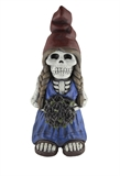 "18.5"" Skeleton Lady Gnome with Flowers #319640"