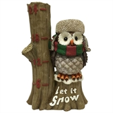 "12.3"" Let It Snow Owl #324202"