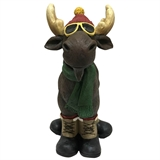 "11.5"" Moose In Hat And Scarf #324343"
