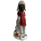 "24.9"" Pointer Wearing Hat And Scarf #324624"
