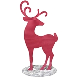 "29.8"" Red Stylized Reindeer #324830"