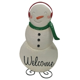 "24"" Metal Standing Snow Lady #325183"