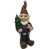 "23.3"" LED Gnome Holding Tree #326009"