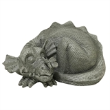 "4"" Concrete Finish Snoozing Dragon #327379"