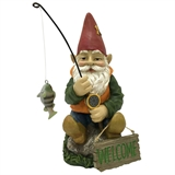 "10"" Welcome Gnome Fishing #328112"