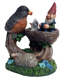 "10"" Bird Feeding Gnome #330357"