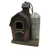 Barn With Silo Birdhouse