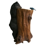 Bear With Bluebird Tree Birdbath