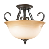 Cameron Semi Flush 2-Light Pendant
