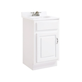 "Concord 1-Door Ready to Assemble Vanity 18""x16"", White Gloss #531244"