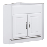 "Concord Ready to Assemble Corner Ready to Assemble Vanity 24""x20.5"", White Gloss #537639"