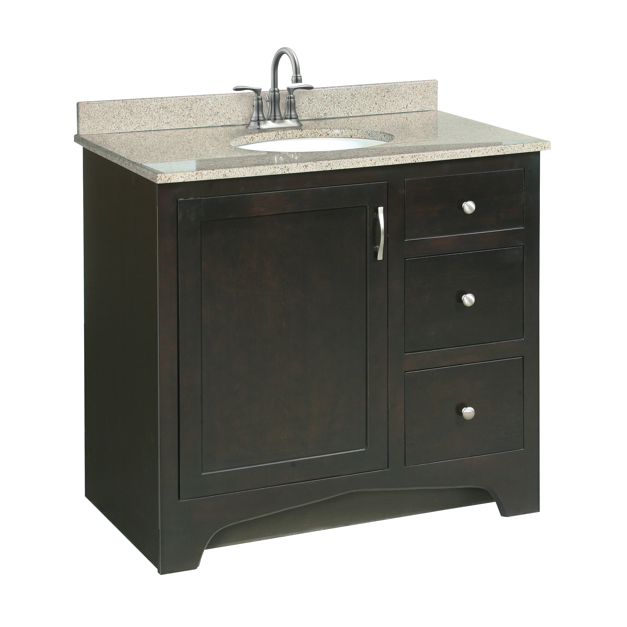 Ventura 36x21 rta 1 door 2 drawer vanity 541284 bath - Unassembled bathroom vanity cabinets ...