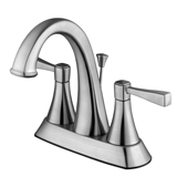 Perth Centerset Bathroom Faucet, Satin Nickel #546929