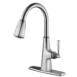 Perth Single Handle Kitchen Faucet, Satin Nickel #546986