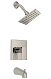 Design House Karsen Tub and Shower Faucet, Satin Nickel Finish #547612