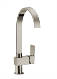 Karsen Single Handle Kitchen Faucet, Satin Nickel Finish