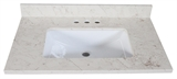 "49"" Quartz Vanity Top. Giallo #557017"