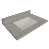 "22"" X 37"" Cultured Marble Wave Bowl, Moonscape Grey #557561"