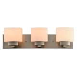 Dove Creek Three Light Vanity Light, Satin Nickel #578005