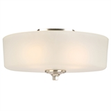 Perth 3-Light Flush Ceiling Light, Satin Nickel #578377