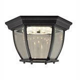 Canterbury II LED Outdoor Ceiling Light, Black #578518