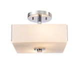 Karsen Two Light Semi Flush Ceiling Light, Polished Chrome #579110