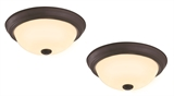 Hays 2-Pack LED Ceiling Lights, Oil Rubbed Bronze #579151