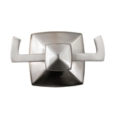Perth Double Robe Hook, Satin Nickel Finish #580845