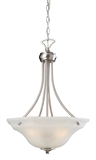 Barcelona 3-Light Pendant, Satin Nickel #604728