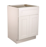 "Brookings 24"" Fully Assembled Kitchen Base Cabinet, White Shaker #613166"