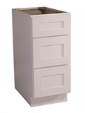 "Brookings 12"" Fully Assembled Kitchen Drawer Base Cabinet, White Shaker #613240"