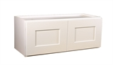 "Brookings 30"" Fully Assembled Kitchen Wall Cabinet, White Shaker #613430"