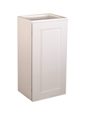 "Brookings 15"" Fully Assembled Kitchen Wall Cabinet, White Shaker #613497"