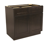 "Brookings 36"" Fully Assembled Kitchen Base Cabinet, Espresso Shaker #613687"