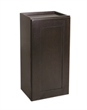 "Brookings 18"" Fully Assembled Kitchen Wall Cabinet, Espresso Shaker #613836"
