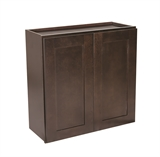 "Brookings 27"" Fully Assembled Kitchen Wall Cabinet, Espresso Shaker #613869"