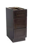 "Brookings 12"" Fully Assembled Kitchen Drawer Base Cabinet, Espresso Shaker #620245"